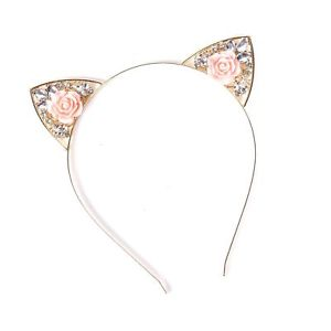4ac61703e Classy – this is how I'd describe the VK Accessories Crystal Cat Ear  Headband. If you want to put an elegant twist to your love for cat ear  headbands, ...